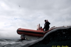 Simon coming to collect us in the rhib