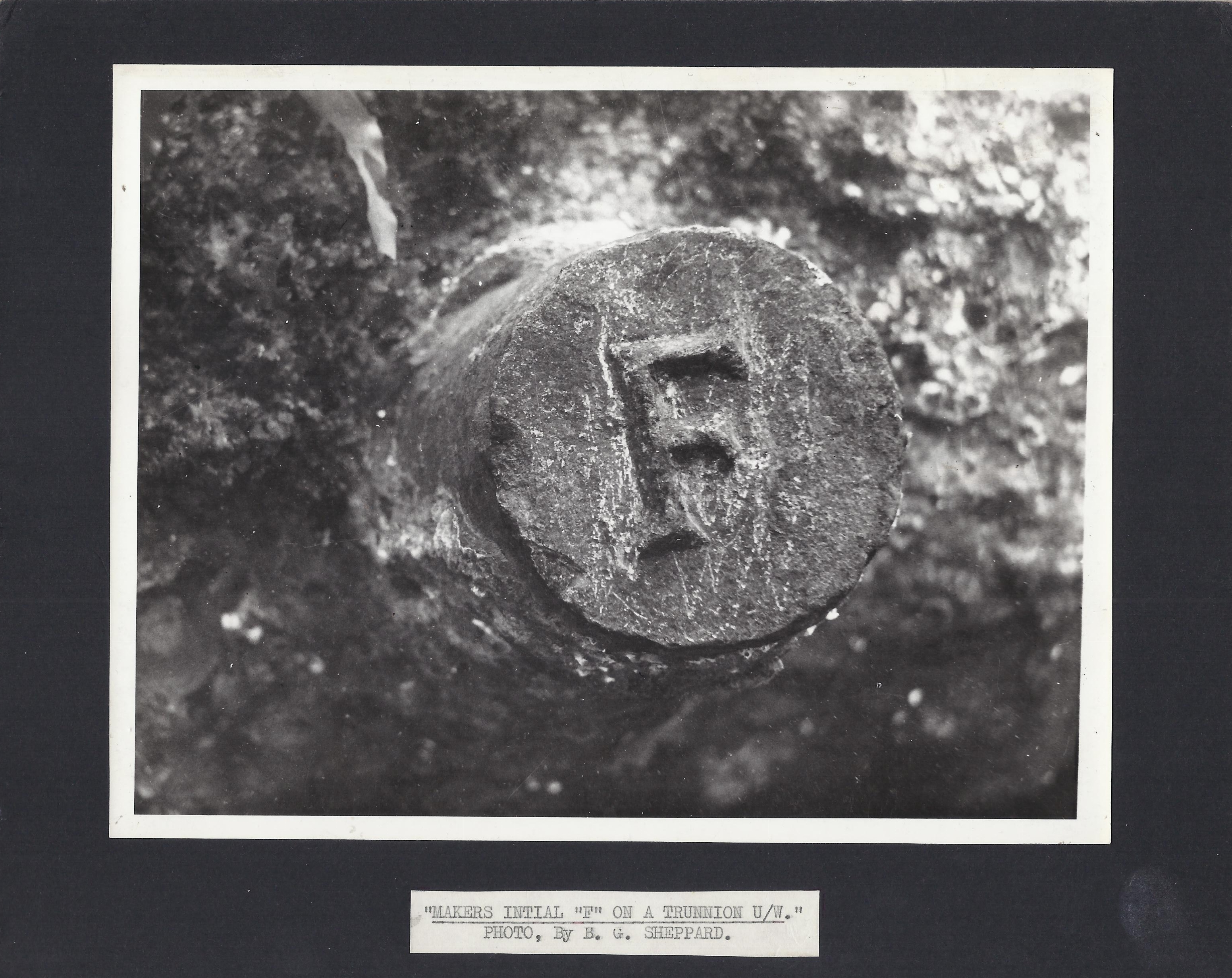 The F on the trunnion