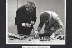 Examining artefacts in the studio