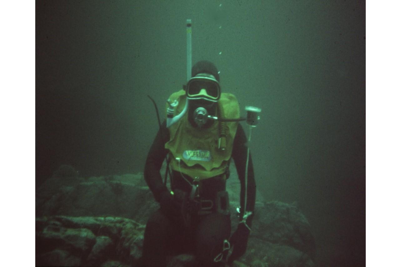 Harry Harvey underwater